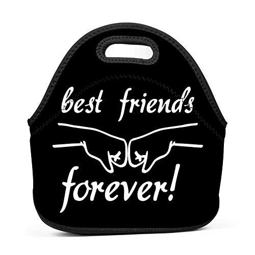 GCASST Best Friends Handshakes Lunch Tote Bag Portable Lunch Bags for Women Kids Outdoor School Office