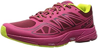 Salomon Sonic Aero W, Zapatillas de Trail Running para Mujer, Rojo (Tibetan Red/Sangria/Lime Punch), 36 EU: Amazon.es: Zapatos y complementos
