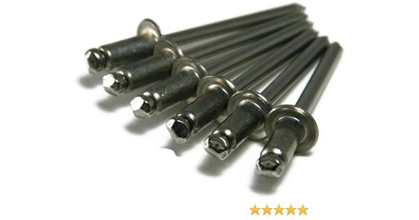 0.251-0.375 POP Rivet 18-8 Stainless Steel 1//4 x 3//8 Gap Qty-100 8-6