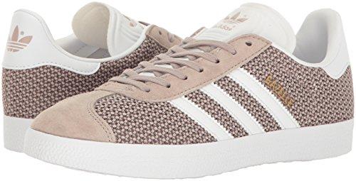 Adidas Originals Women's Gazelle W Fashion Sneaker, Vapour Green/White/Vapour Green, 7.5 M US