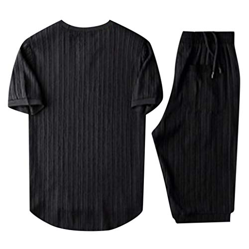 Shirt Funny Hawaiian Polo Golf Party Summer Fashion Short Sleeve Shorts Set Suit Tracksuit for Men (4XL,3- Black)
