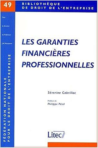 En ligne Garanties financières professionnelles pdf
