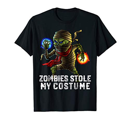 Halloween Zombies Stole My Costume Shirt Easy Outfit Adults -