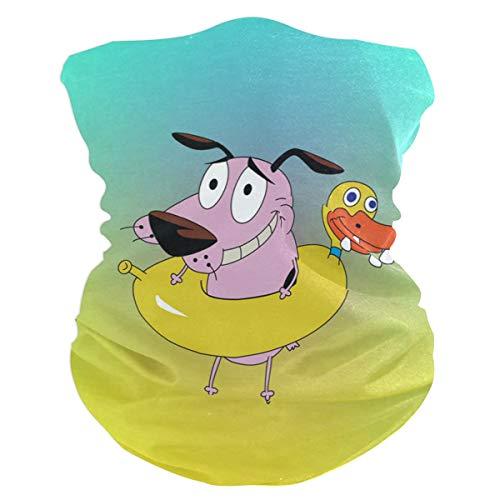 Cowardly Dog Cartoon Headband Womens Bandana Multifunctional Mens Balaclava, Neck Warmer, Face Mask, Tube Hatliner