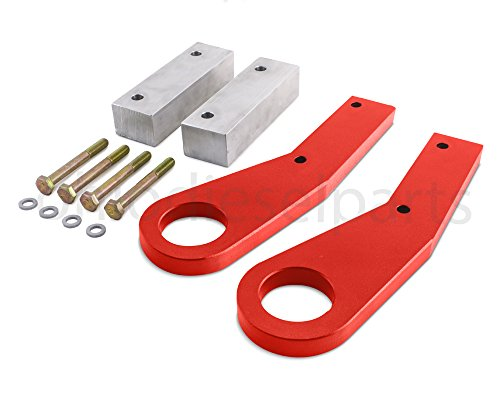 Jeep Cherokee Tow Hooks - Ohio Diesel Parts Jeep Grand Cherokee WK2 Tow Hooks Recovery Point Years 2011-2016 (Red)