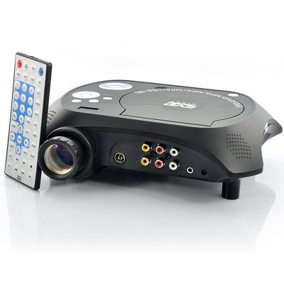 Generic Led Multimedia Projector With Dvd Player - 480X320, 20 Lumens, 100:1 by Generic