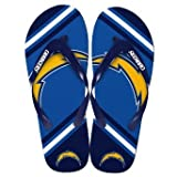 San Diego Chargers Official NFL Unisex Flip Flop Beach Shoes Sandals slippers size Small