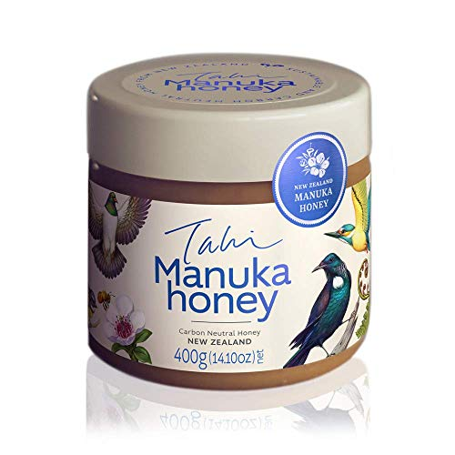 Manuka Honey from New Zealand, Eco-friendly, Bee Ethical, Raw and Unfiltered, no Added Sugar, Water or Chemicals 400gm (14.1oz) jar by Tahi the Conservation People