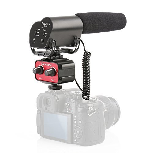 Saramonic Pro Filmmakers Bundle with Super-Cardioid Shotgun Condenser Video Microphone and 2-Channel Audio Mixer for DSLR Cameras & Camcorders by Saramonic