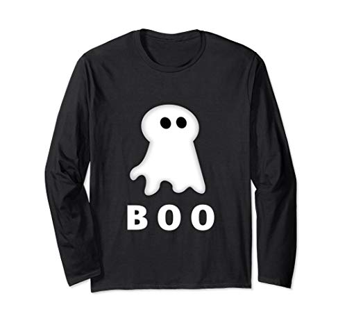 Ghost Of Halloween, Scary Funny Spooky Long Sleeve T-Shirt