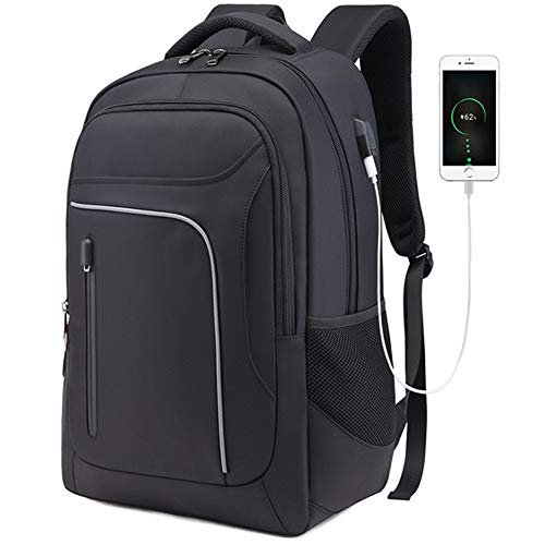 Laptop Backpack, UOWGA Business Travel Computer Backpack with USB Charging Port Earphone Hole Anti-theft Waterproof for Travel School Business Men Women Fit Under 17 Inch Laptop Macbook
