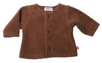 Zutano Cozie Fleece Jacket, Chocolate, 6 Months ( 0-6 months)