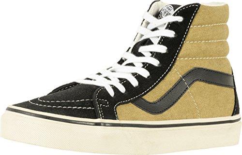 Vans Unisex Sk8-Hi Reissue (Vintage) Black/Olive Skate Shoe 9 Men US/10.5 Women US