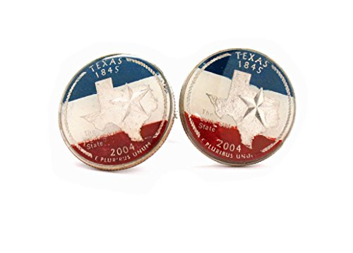 Texas Cufflinks Suit Flag State Coin Jewelry USA America Lone Star Cowboy Houston San Antonio Dallas - Dallas Suit Shop
