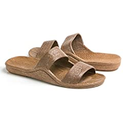 These Jesus Sandals, sometimes called Jandals, are stylish, comfortable, and one of the most popular sandals in Hawaii.   Size chart:    Size 8: Length - 10.13 inch; Width - 3.5 inch   Size 9: Length - 10.38 inch; Width - 3.75 inch   Size 10:...