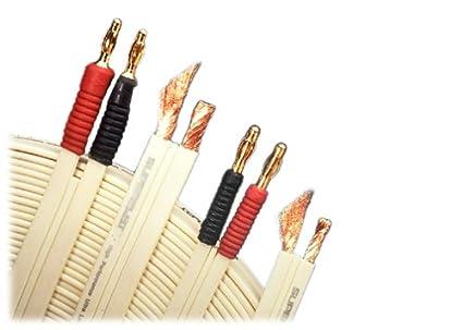Amazon.com: SuperFlat Mini Navajo White Easy-to-Hide Speaker Cable ...