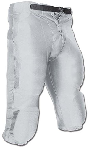 CHAMPRO Youth Stretch Dazzle Snap Football Pant Silver Small -