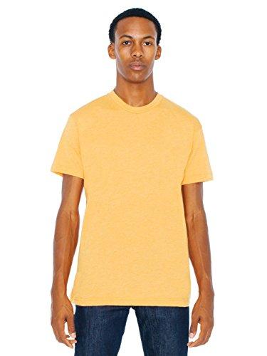 American Apparel  Poly-Cotton Short Sleeve Crew Neck, Heather Orange, Medium
