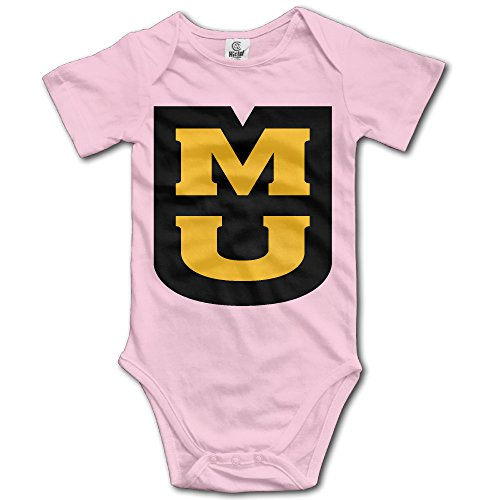 Price comparison product image OOKOO Baby's University Of Missouri Logo Bodysuits Pink 24 Months