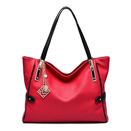 Women All Leather Crossbody Luxury Handbags Leather Famous Casual Bags Seasons Red Shoulder PU Ladies Bags Embossed I8AqnIxBr