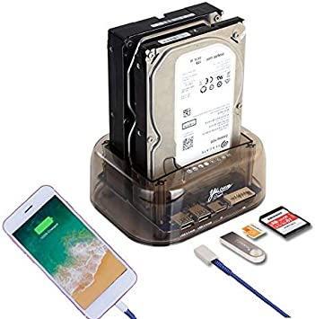 Caja SATA 2,5/3,5 Pulgadas recinto USB3.0 Doble Disco Duro SATA ...