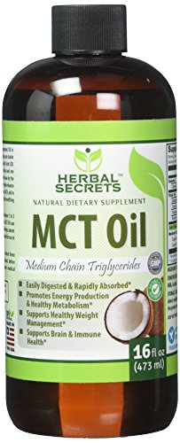 Herbal Secret 100% Pure MCT Oil, 16 Fl Oz - Helps in Weight Management * Maintain Lean Muscle Tissue* by Herbal Secrets
