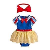 Traje y diadema de vestir para niña de color blanco inspirado en Blancanieves, inspirado para fotos, con 2 piezas (80 /6-12 meses)