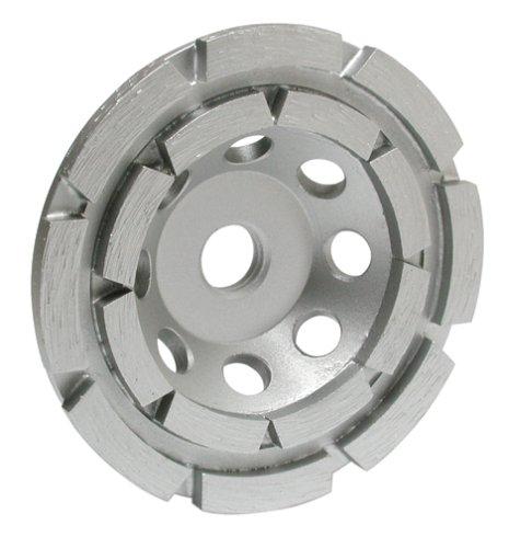 MK Diamond 155686 304SG-2 4-Inch Double Row Premium Cup Wheel, 5/8-Inch-11 Nut