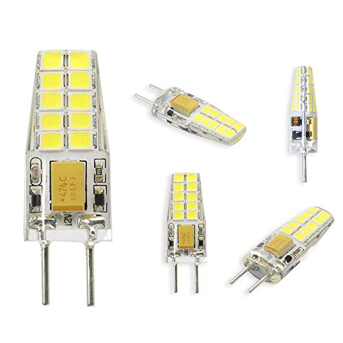 olt 3W GY6.35 / G6.35 Bi-pin Base 25W Equivalent,Not-Dimmable,Daylight 6000K (Pack of 5) ()
