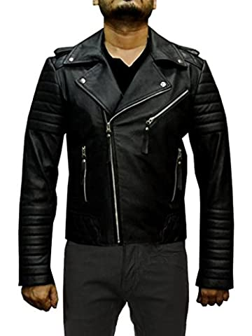 No Brand The Terminator Arnold Schwarzenegger Genuine Leather Jacket (XXXL-Suitable for 52