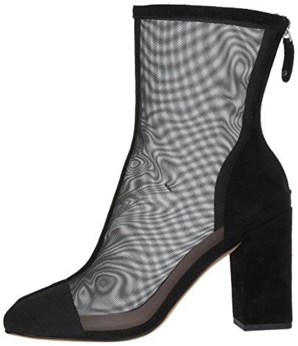 Avec Les Filles Women's Rita Fashion Boot, Black Mesh/Suede, 10 M US