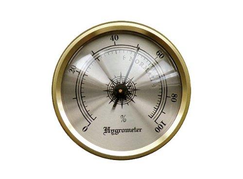 Prestige Import Group HY134 Hygrometer with Brass Frame, (Brass Hygrometer)