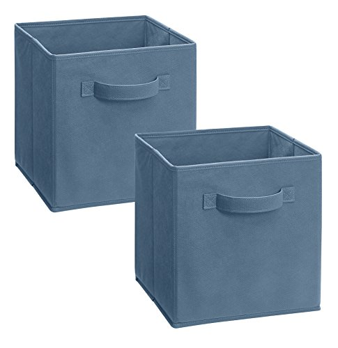 ClosetMaid 11511 Cubeicals Fabric Drawer, Denim Blue, 2-Pack (Cubbies Closetmaid)