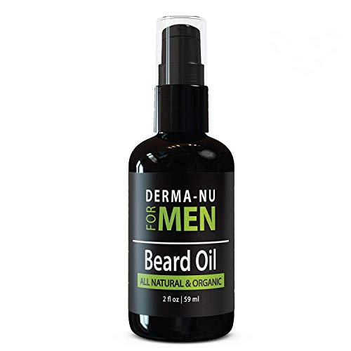 Beard Oil & Conditioner by Derma-nu for Men - Best Facial Hair Grooming Product. Organic, All Natural Formula Enriched with Argan, Avocado & Jojoba Oil for a Strong, Healthy Beard