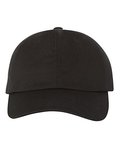 Yupoong Adult Low-Profile Cotton Twill Dad Cap, Black, Os