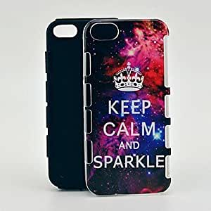 Starry Keep Calm and Sparkle 2 in 1 Shockproof TPU and Hard Back Case for iPhone 5/5S