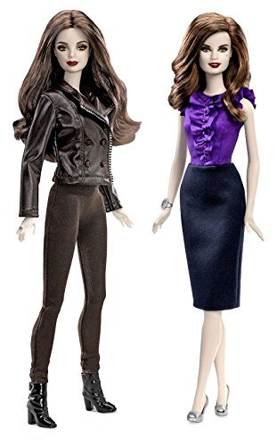 Twilight Bella & Esme Cullen Girls Vampire Collector Set Barbie Pink Label Toy Doll Figure Collectible Movie Merchandise