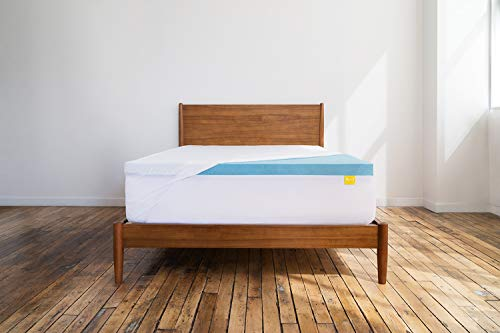 Revel 3-Inch All Climate Cooling Gel Memory Foam Mattress Topper with Stay Fresh Cover Queen , Made in the USA with a 10-Year Warranty, Amazon Exclusive