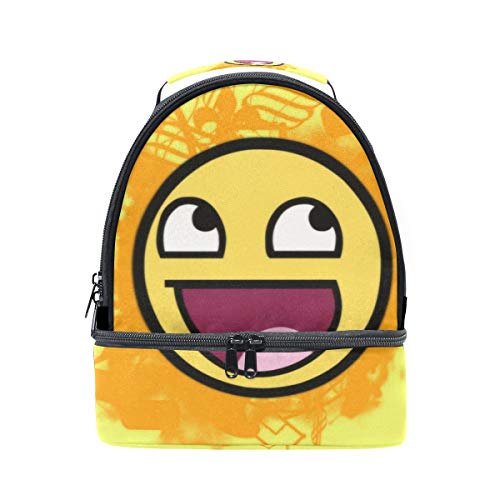 (Lunch Box Funny Smiley Faces Womens Insulated Lunch Bag Kids Zipper Lunch)