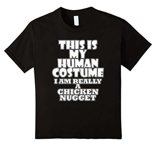 Kids Human Costume of a Chicken Nugget Funny Costume Idea T-Shirt 10 Black
