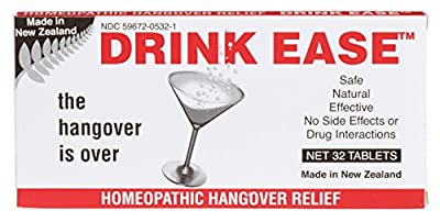 Miers Labs Drink Ease Homeopathic Hangover Remedy, 32 Count