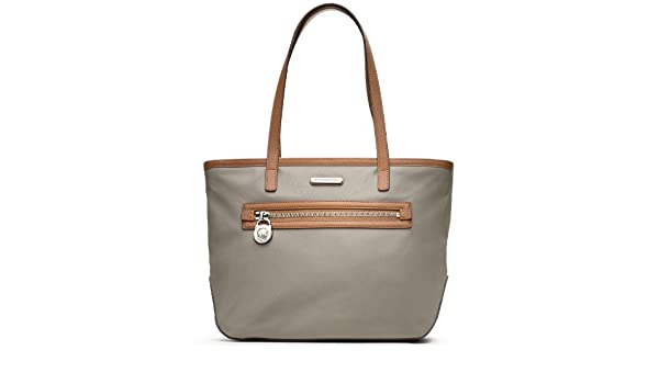 fc335368c522f0 Amazon.com: Michael Kors Kempton Nylon Small Tote Pearl Grey: Shoes