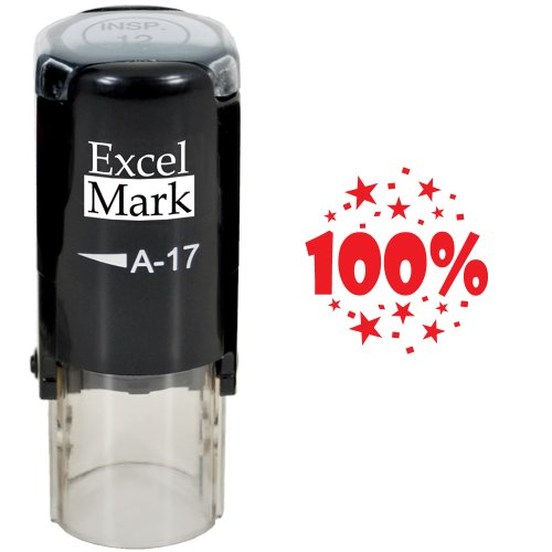 Round Teacher Stamp 100 RED product image