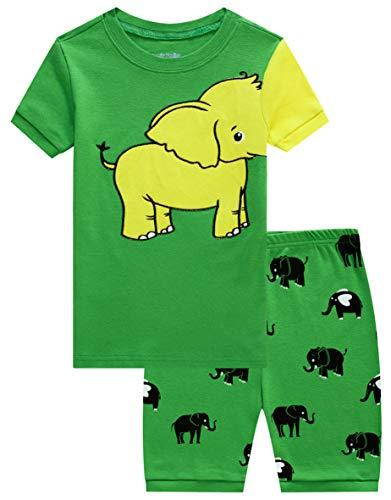 Family Feeling Little Boys Elephant Pajamas Short Sets 100% Cotton Toddler Kid 2T