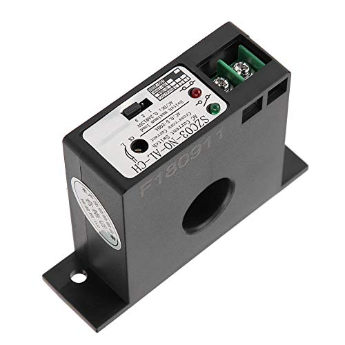 Akozon Current Sensing Switch Normally Open Current Sensing Switch Adjustable AC 0.5-200A SZC03-NO-AL-CH
