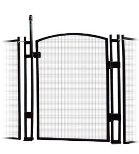 - Sentry Safety Pool Fence EZ-Guard 4' Tall Self Closing/Self Latching Mesh Child Safety Pool Fence Gate Kit for In-Ground Pools - Black