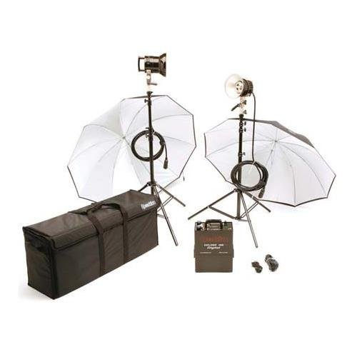 Speedotron Explorer Battery Operated 2 Light Kit,with Explorer 1500, 2 Flash Heads, Stands, Umbrellas & Case by Speedotron
