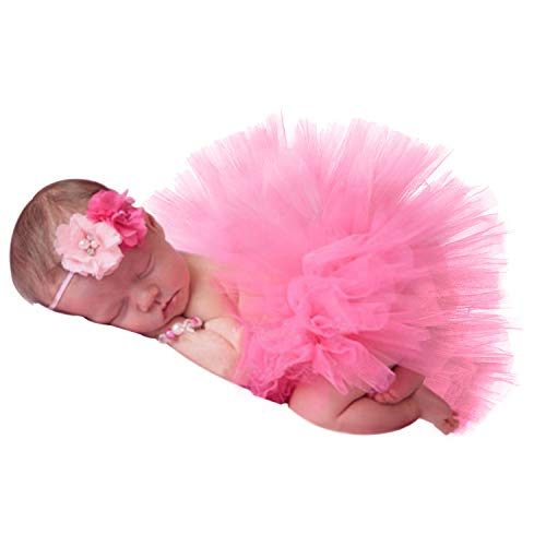 Newborn Girl Photography Props Outfits - Infant Photography Props/Baby Girl Photo Props - Baby Tutu Skirt and Headband Set