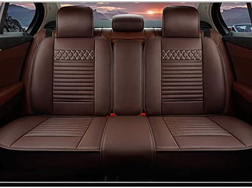 Luxury Cayenne Car Seat Covers for Nissan Kicks 2017-2020 5-Seat Custom PU Leather Front Rear Seat Pad All Season Protetion Full Set Easy Install Airbag Compatible