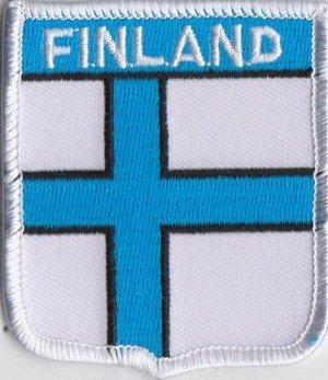 Parche de la bandera de Finlandia finés escudo del Real Mallorca